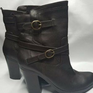 Style & Co. Womens AMELIYA Round Toe Ankle boots